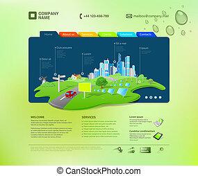 אתר אינטרנט, template., infographics