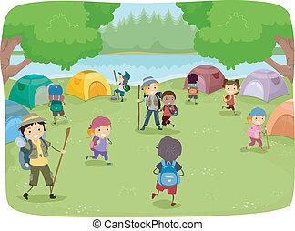 אתר של מחנה, ילדים