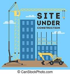 אתר, construction., מתחת