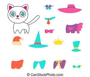 בגדים, קבע, חתול