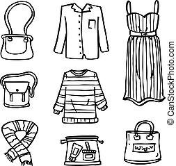 בגדים, שרבט, סיגנון, קבע, נשים