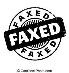 בול של גומי, faxed
