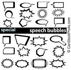 בועות, 1 2, נאום, מיוחד