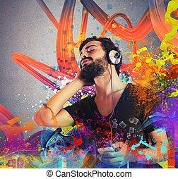 בחור, מוסיקה מקשיבה