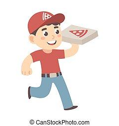 בחור של משלוח, פיצה