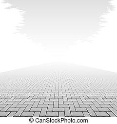 בטון, מדרכה, חסום