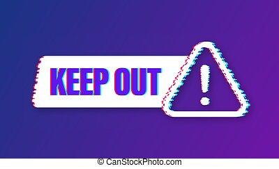 בטחון, icon., וקטור, גדול, סכנה, purposes., החזק, הגבלה, אחסן, illustration., עצב, label., glitch, out, כל