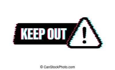 בטחון, illustration., label., החזק, אחסן, וקטור, glitch, עצב, גדול, כל, purposes., icon., הגבלה, out, סכנה