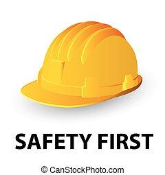 בטיחות, כובע קשה, צהוב