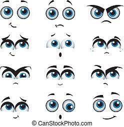 ביטויים, שונה, ציור היתולי, פנים
