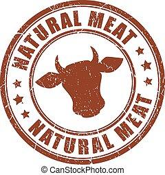 ביל, טבעי, בשר