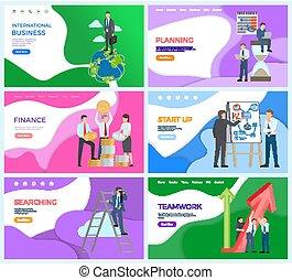 בינלאומי, איש, רשת, עסק, פעילות