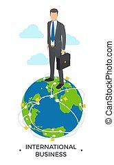 בינלאומי, וקטור, דוגמה של עסק, איש