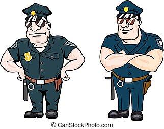 ביפי, קבע, קציני משטרה