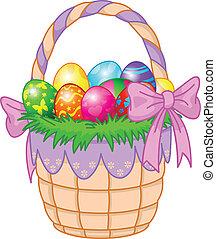 ביצים, חג הפסחה, צבעוני, סל