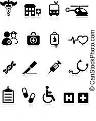 בית חולים, רפואי, איקון, אוסף, אינטרנט
