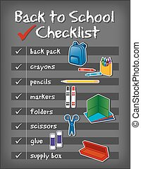 בית ספר, רקע, השקע, רשימה, לוח לגיר