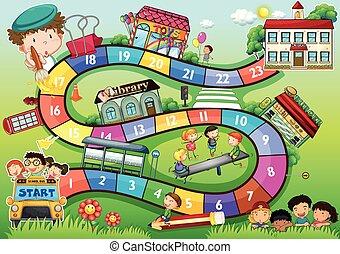 בית ספר, תימה, לוח של משחק