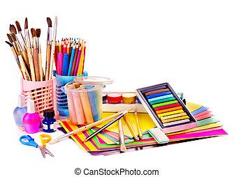 בית ספר, supplies., השקע