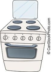 בית, תנור, ציור היתולי, מטבח