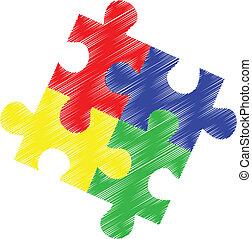 בלבל, autism, חתיכות