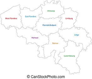 בלגיה, מפה, תאר