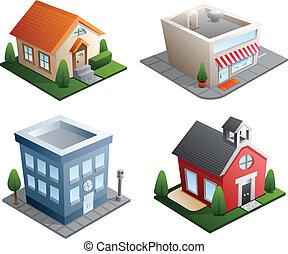 בנין, דוגמות