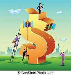 בנין, דולר, אנשים של עסק