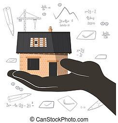 בנין, העבר., graphs., הטל, וקטור, אדריכל, מספרים, בניה, תקציר