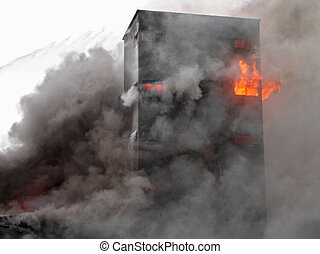 בנין, להשרף
