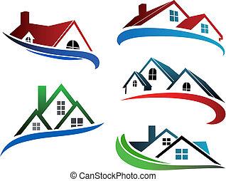 בנין, סמלים, גגות, בית