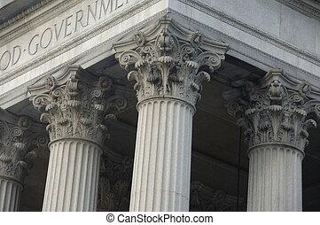 בנין, עמודים של כורינטיאן, ממשלה