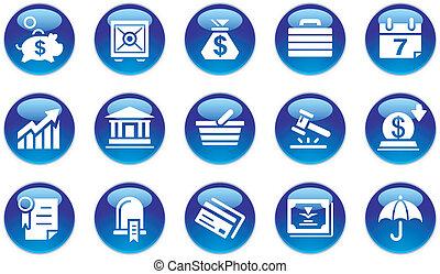 בנקאות, קבע, &, איקונים של עסק