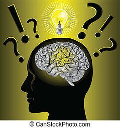 בעיה, מוח, לפתור, רעיון