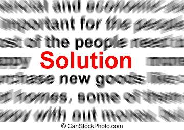 בעיה, פתרון