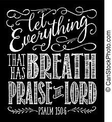 בעלת, הלל, אלוהים, הכל, נשימה, תן