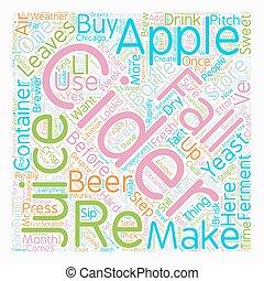 בעל, טקסט, עשה, שיכר תפוחים, איך, wordcloud, מושג, רקע, שלך