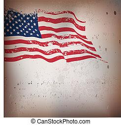 בציר, אמריקאי, ארוג, דגלל, רקע.