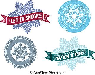 בציר, זה, השלג, וקטור, תן, גרפיקה