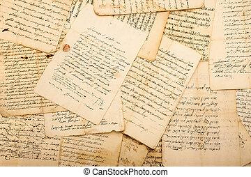 בציר, מכתבים