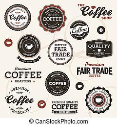 בציר, קפה, מדבקות