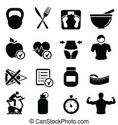 בריא חי, דיאטה, כושר גופני