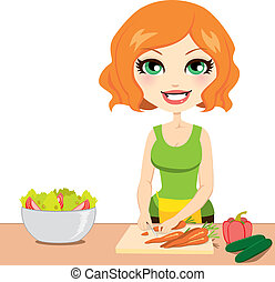 בריא, ירק, סלט