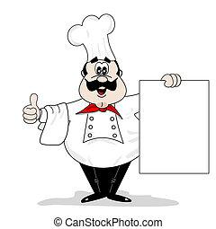 בשל, ציור היתולי, טבח