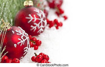 גבול, קישוטים של חג ההמולד, אדום