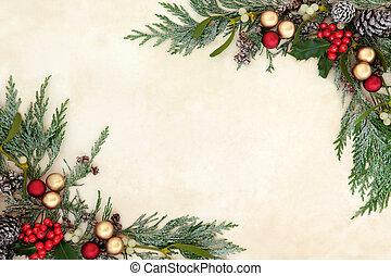 גבול קישוטי, חג המולד
