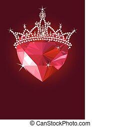 גביש, לב, הכתר