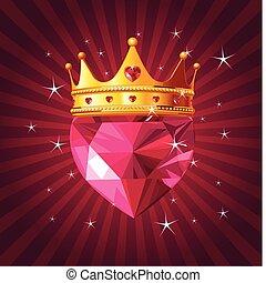 גביש, ראדיאלי, לב, הכתר