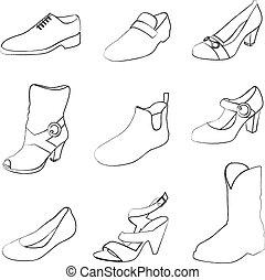 גברים, נעליים, נשים