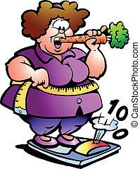 גברת, בטן, שומן